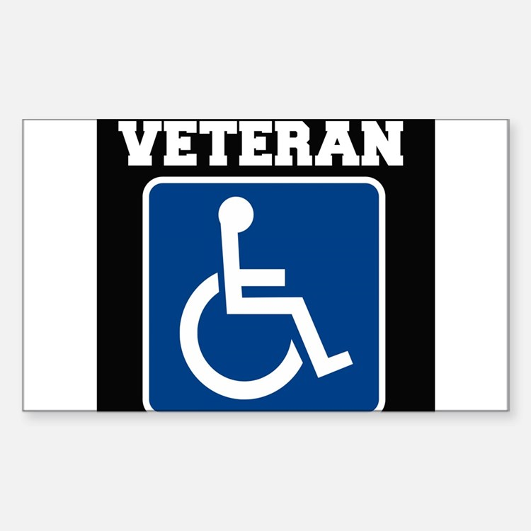 Disabled Handicapped Veteran Decal