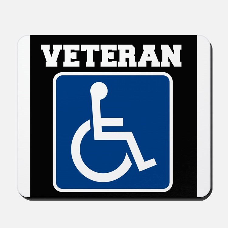 Disabled Handicapped Veteran Mousepad