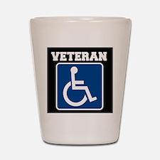 Disabled Handicapped Veteran Shot Glass