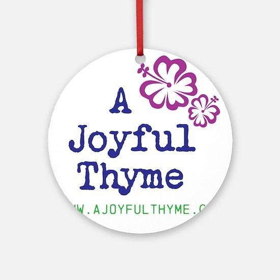 Cute Blog Round Ornament