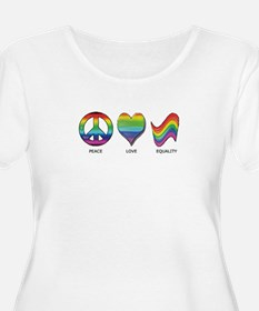 Peace Love Equality Plus Size T-Shirt