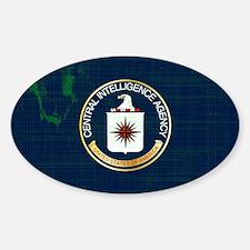 CIA Flag Grunge Decal