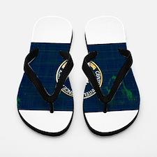 CIA Flag Grunge Flip Flops