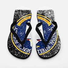 CIA Grunge Logo Flip Flops