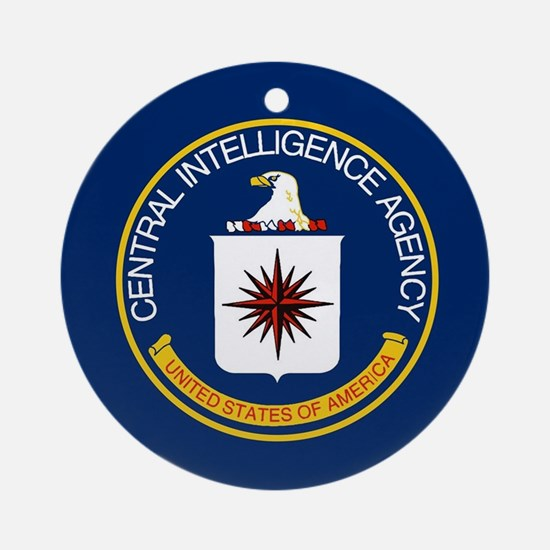 CIA Flag Round Ornament
