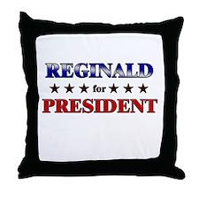 REGINALD for president Throw Pillow