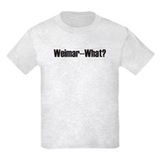 Weimar-What? Kids Gray T-Shirt