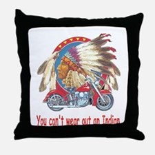 You can't wear out an indian Throw Pillow