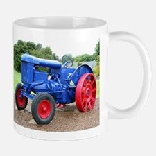 Blue & red tractor Mugs