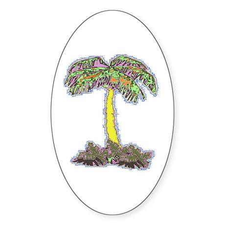 PalmTree T's Oval Sticker
