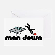 man down ponger Greeting Card