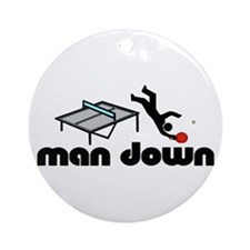 man down ponger Ornament (Round)