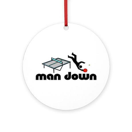 man down ponger Ornament (Round)