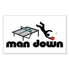 man down ponger Rectangle Decal
