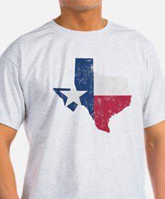 Vintage Texas State Outline Flag T-Shirt
