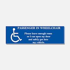 Passenger In Wheelchair 10x3 Car Magnet 10 X 3