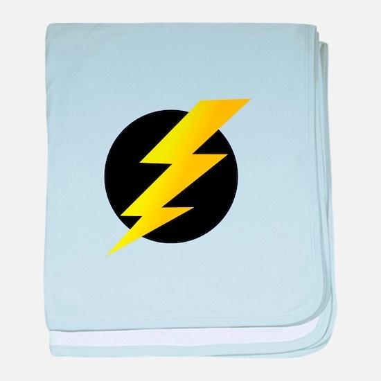 Lightning Bolt baby blanket