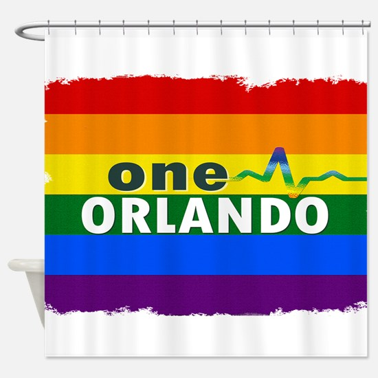 One Orlando Strong Pulse Shower Curtain