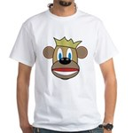 Monkey With Crown White T-Shirt
