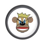 Monkey With Crown Wall Clock