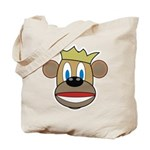 Monkey With Crown Tote Bag