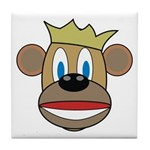Monkey With Crown Tile Coaster