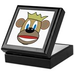 Monkey With Crown Keepsake Box