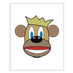 Monkey With Crown Small Poster