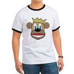 Monkey With Crown Ringer T