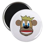 "Monkey With Crown 2.25"" Magnet (100 pack)"