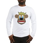 Monkey With Crown Long Sleeve T-Shirt