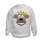 Monkey With Crown Kids Sweatshirt