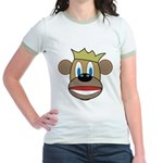 Monkey With Crown Jr. Ringer T-Shirt