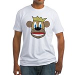 Monkey With Crown Fitted T-Shirt