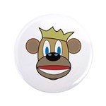 "Monkey With Crown 3.5"" Button (100 pack)"