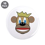 "Monkey With Crown 3.5"" Button (10 pack)"