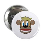 "Monkey With Crown 2.25"" Button"