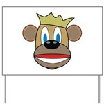 Monkey With Crown Yard Sign