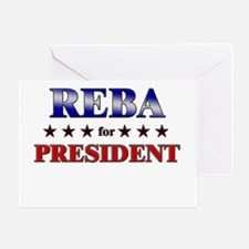 REBA for president Greeting Card