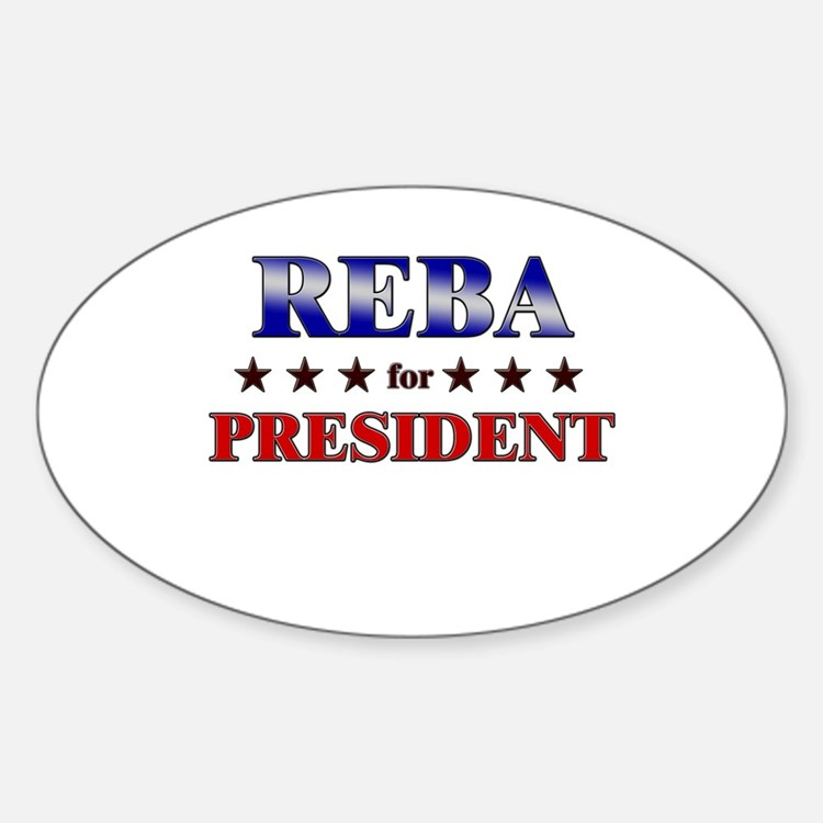 REBA for president Oval Decal