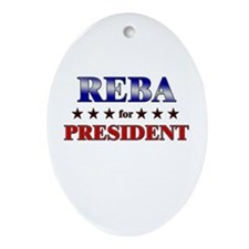 REBA for president Oval Ornament