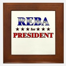 REBA for president Framed Tile