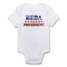 REBA for president Infant Bodysuit