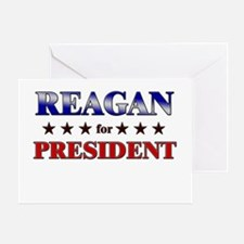 REAGAN for president Greeting Card