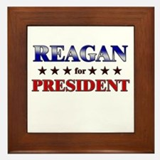 REAGAN for president Framed Tile