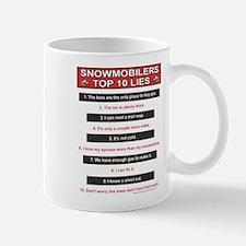 Snowmobiler top Ten Lies Mug