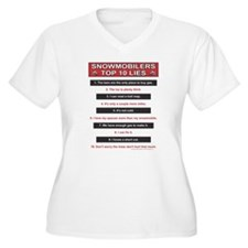 Snowmobiler top Ten Lies T-Shirt
