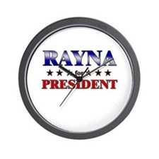 RAYNA for president Wall Clock