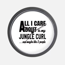 All I care about is my Jungle-curl Wall Clock