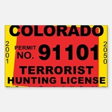 terrorist-hunting-license-XL-C Decal